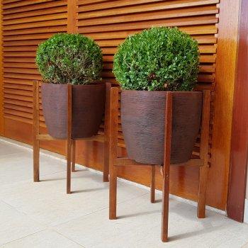 Suporte de madeira para vasos Nº 10